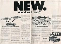 1975 Volkwagen Rabbit Advertisement Readers Digest November 1975 (SenseiAlan) Tags: 1975 volkwagen rabbit advertisement readers digest november