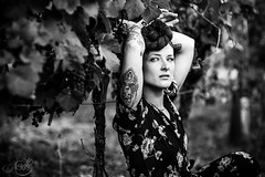 Far From Any Road (b.naissa) Tags: strasbourg alsace vignes natural naturallight beautiful tattoo tatooedgirl alternative blackandwhite inked portrait naissab
