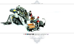 Project: Lotus47 (Teaser 41) (icycruel) Tags: lego moc scifi project lotus outpost charlie gunship ground crew