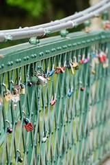 Photo of Love locks, Port Na Craig Suspension Bridge, Pitlochry