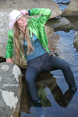 #254 Sea Wetlook with Blonde Girl in Wet Tight Jeans. Beautiful girl in green jacket and wet skinny jeans, blouse and wet socks, swimming fully clothed in the sea. (Wetlook with WetFoto.com) Tags: sea woman sexy green wet water girl beautiful smile socks swimming swim skinny photo model wasser adult free blouse jeans soak jacket blonde online getwet tight splash baden havefun dripping wethair soaked nass wetlook madchen fullyclothed wetclothes wetgirl wetfoto