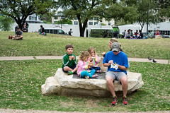 Family Brunch in the Park (-Dons) Tags: park family usa rock austin texas unitedstates tx meal austinfarmersmarket