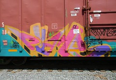 Phame (Sk8hamburger) Tags: railroad art train painting graffiti paint tag rr boxcar graff piece oi tagging freight amfm signo phame paint spray