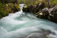 Spring (Ahio) Tags: longexposure green water zeiss landscape moss spring stream explore rivers ros karst source llanes thaw 21mm sierradelcuera zf2 ropurn distagont2821