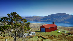 The Red Croft (Andrew Lockie) Tags: red building scotland community day fuji sheep lewis scottish clear croft livestock crofting settlement isleoflewis dwelling outerhebrides xe1 explored locheireasort balallan locherisort baileailein