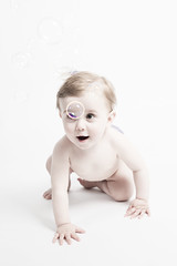 Bubble boy (Velocity Girl - Christina Brding) Tags: boy baby studio happy child soapbubble nicolay