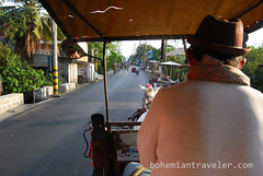 riding a calesa horse drawn cart (5) (BohemianTraveler) Tags: old city horse heritage architecture island town site asia pacific district philippines colonial chinese unesco mexican spanish filipino sur vigan ilocos kalesa luzon calesa mestizo