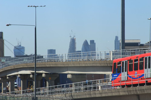 City of London skyline, viewed from Aspen Way