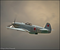 YAKOVLEV YAK 3M (WHITE 100) (Wings & Wheels Photography.) Tags: yak england canon duxford dslr cambridgeshire 2012 imperialwarmuseum iwm aviationphotography flyinglegendsairshow canoneos7d white100 yakovlevyak3m wingswheelsphotography