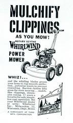 Whirlwind Power Mower Advertising National Geographic June 1949 (SenseiAlan) Tags: june advertising power national mower geographic 1949 whirlwind