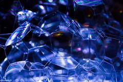 Cold bubbles in blue (catoledo) Tags: blue abstract monochrome unitedstates bokeh bubbles foam delaware newark diffraction 2013