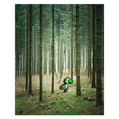 16 Bit (harald wawrzyniak) Tags: wood game tree analog forest nintendo manipulation super nostalgic video