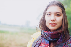 Alicia (Choollus) Tags: travel portrait travelling primavera film girl beautiful rain analog 50mm spring lluvia chica alicia kodak guilin retrato chinese british brunette pioggia fille ritratto e100vs yashica viaggio analogica viajar ragazza guanxi viajo madchen viaggiare jiangtouzhou