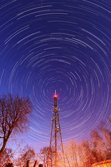 Radio activity V (quornflake) Tags: longexposure trees night stars long exposure startrails starstax