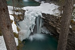 Johnston Canyon (phrase!) Tags: park winter 3 snow canada color colour tree art ice nature water beautiful creek river landscape outdoors photography waterfall spring interesting aperture nikon stream long exposure artistic creative canyon hike adventure explore alpine national le alberta banff nikkor vr johnston dx 18105mm d7000