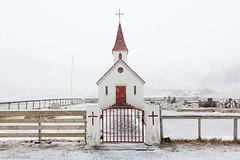 Iceland 2013 (april) (Arnold van Wijk) Tags: winter snow church nature landscape geotagged island iceland south sneeuw natuur april kerk landschap zuid isl vk reynir ijsland reyniskirkja geo:lat=6341856000 geo:lon=1904847100