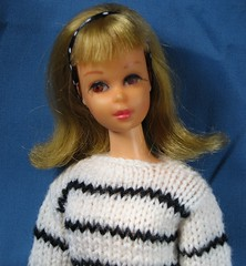 Francie in Black and White (Debras Closet) Tags: white black mod francie dollclothes