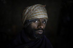 Portrait of an Indian in Dibrugarh, Assam, India (anthony pappone photography) Tags: travel portrait india man hat canon beard photo asia photojournalism hindu assam ritratto hindi reportage dibrugarh traditionals indiane