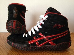 Red Asics Rulons (ncwrestling33) Tags: red white shoes wrestling 8 9 nike size asics adidas asic rulons uploaded:by=flickrmobile flickriosapp:filter=nofilter