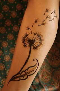 Dandelion whisked away