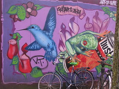 AMSTERDAM 26APR2013 pic29 (streamer020nl) Tags: holland bird amsterdam bike painting graffiti grafitti frog bust nl singel fahrrad flowermarket vogel fiets kikker bloemenmarkt 2013 bustart up6238