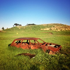 busted broken forgotten (dalevaniersel) Tags: abandoned broken grass square rust forgotten squareformat busted bomb holden iphoneography instagramapp uploaded:by=instagram
