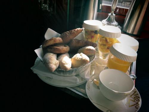 Venice-Simplon-Orient Express room service breakfast Fiona Bibby