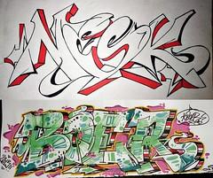 Name Exchange (Boer 412) Tags: boer graffiti sketch romania exchange iasi botosani nesk oksen boer412