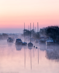 Dawn Moods by the Riverside (awhyu) Tags: misty sunrise river boats photography dawn andrew dorset yu wareham wwwandrewyucouk
