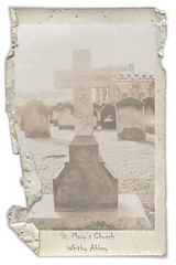St. Mary's Church, Whitby Abbey (FireflyFotos) Tags: england church grave graveyard vintage framed yorkshire textures faded whitby years 2008 whitbyabbey