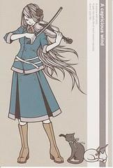[Official]To:USA (miyarin(mi-mo)) Tags: girl illustration official postcard postcrossing violin sent toamerica kaoriwakamatsu