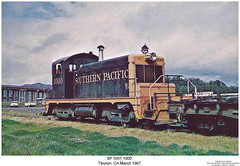 SP SW1 1000 (Robert W. Thomson) Tags: california railroad train diesel railway trains sp sw locomotive trainengine tiburon sw1 switcher southernpacific emc switchengine espee emd fouraxle endcabswitcher