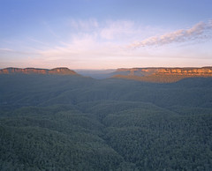 First light (zane&inzane) Tags: morning mountain forest sunrise landscape sydney australia nsw fujifilm superia100 katoomba bluemountain echopoint mamiya7 43mm