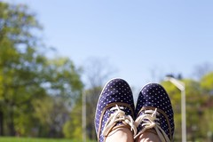 seventy four (eshearing) Tags: feet spring shoes sneakers polkadots keds solesearching