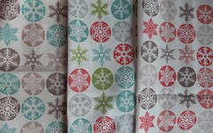 Snowflake fabric samples (ebygomm) Tags: christmas fabric spoonflower