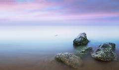 Calm (khalid almasoud) Tags: morning light beach beautiful bulb clouds aperture rocks flickr day all photographer pentax  sigma calm rights estrellas absolutely april kuwait khalid reserved icapture    hsm photographyrocks k01 10mm20mm almasoud  thebestofday gnneniyisi perrrfect anjafah