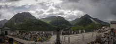 Il Cimitero di Erto (Antonio Ferraroni) Tags: trees sky panorama mountain snow mountains cemetery pine alberi clouds montagne canon photo spring rocks pines neve photomerge 1785mm rocce montagna photostitch cimitero cadore erto loight 50d campestrin