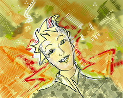 laughing (YU-bin) Tags: graphicart laughing drawing
