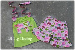 elephant (Lil' Bug Clothing) Tags: elephant short lime halter