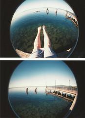 (xmonica rodriguesx) Tags: summer italy self lago legs trevignanoromano fisheye2 2011