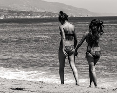 Lazy Beach Day (micadew) Tags: ocean girls people blackandwhite beach water girl monochrome beautiful beauty composition photography women legs candid gorgeous cheeky malibu bikini buns hottie brunette swimsuit beachgirls bathingsuit leggy swimsuits swimwear bikinis bathingsuits bikinibabes bikinified