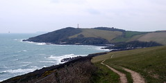 Leaving the Gribbin (Worthing Wanderer) Tags: grey coast spring cornwall cloudy path windy cliffs april dull polkerris southwestcoastpath