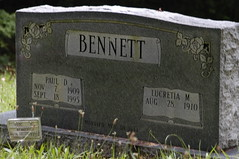 Paternal grandparents' gravestone (Lee Bennett) Tags: cemetery grave death franklin bury north carolina tippett