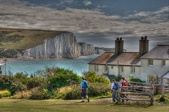 Southy Downs Way (Planetvista) Tags: england cliffs coastline eastsussex hdr lowcontrast infocus southdownsway highquality