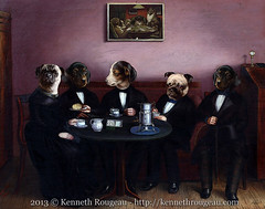 Dapper Dogs (kenneth_rougeau) Tags: dog art dogs digital photoshop puppy artwork puppies tea surrealism surreal canine poker teatime anthropomorphism anthropomorphic canines dogsplayingpoker anthropomorph anthropomorphs kennethrougeau dapperdogs dogsdrinkingtea