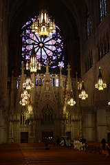 South Rose Window and nave (ktmqi) Tags: newjersey newark neogothic romancatholic sacredheartcathedral