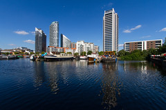 The Cut to the Thames August 2016 (33 of 42) (johnlinford) Tags: canon canonefs1022 canoneos7d dock docklands london marina reflection uk urban water landscape