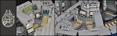 Millennium Falcon - Interior (Medical Bay) (Inthert) Tags: scale star bay mod ship lego interior millennium system medical solo falcon wars han chewbacca 4504 moc