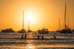 Summer vibes (Carles Alonso photo) Tags: freedom fun nikon sunset d800 sailing people outdoor travelf light summer beach public boat sail formentera sea