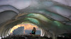 icecave (xtremepeaks) Tags: dg ice snow cave clouds storm sunset woman sit sitting bc canada photoshop f64g80r1win challengeyouwinner